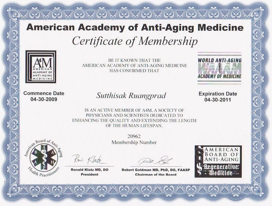 anti aging medicine membership certificate template - Water Efficiency Certificate Template