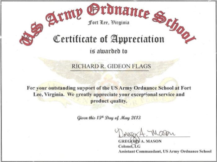 6  army appreciation certificate templates