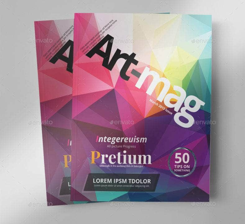 art magazine template 788x721