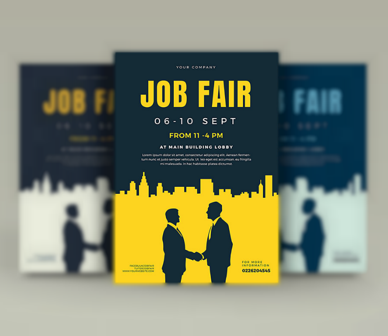 Artistic Minimalist Job Fair Flyer Template