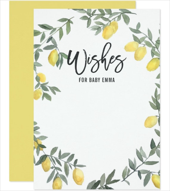Baby Wishes Card Template
