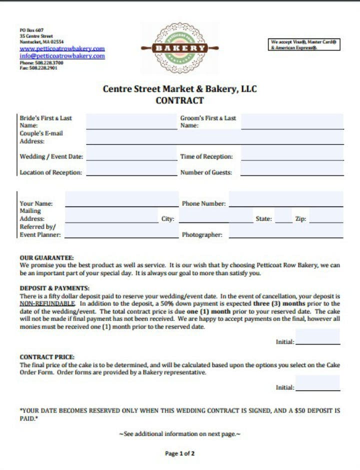 bakery-restaurant-buyout-contract-template