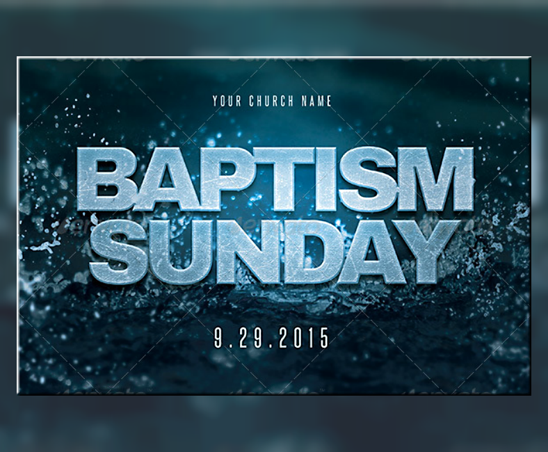 Baptism Sunday Invitation Postcard Template