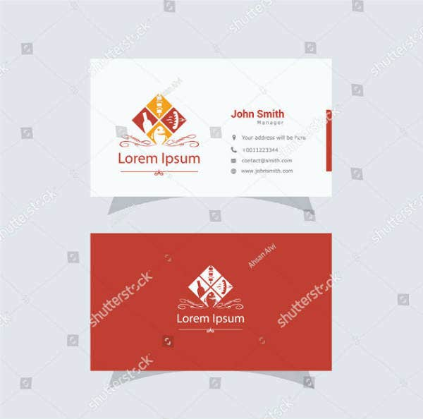 barbecue fast food business card template