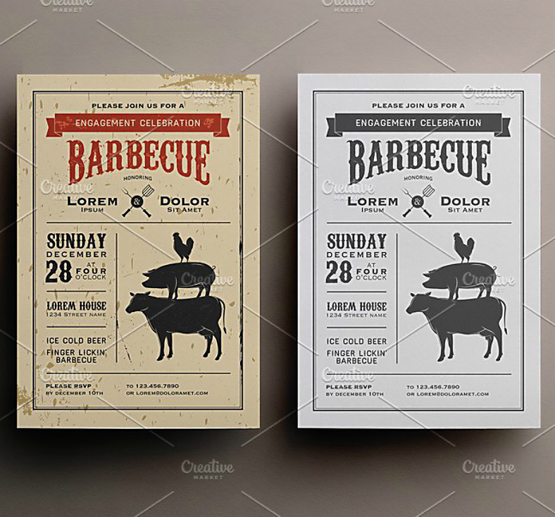 barbecue party invitation format template 788x734