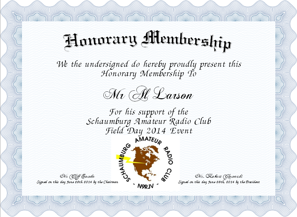 basic elegant honorary membership certificate