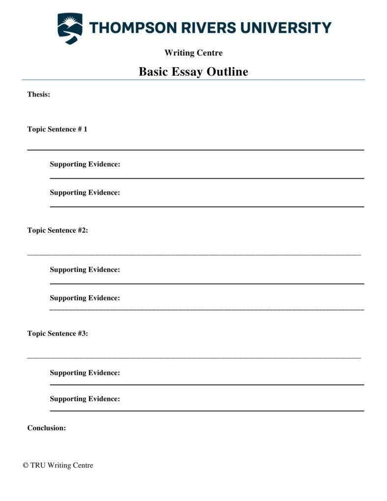 Basic Essay Outline Template
