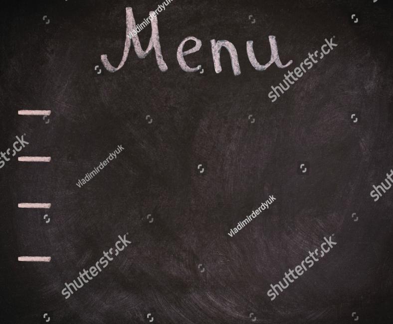 Blank Chalkboard Restaurant Menu Template