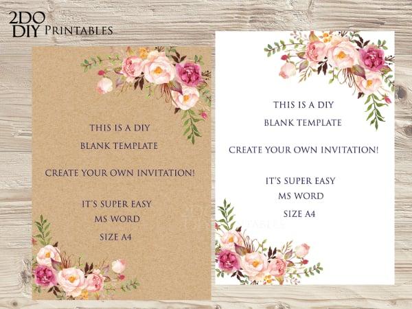9 blank invitation templates doc free premium templates