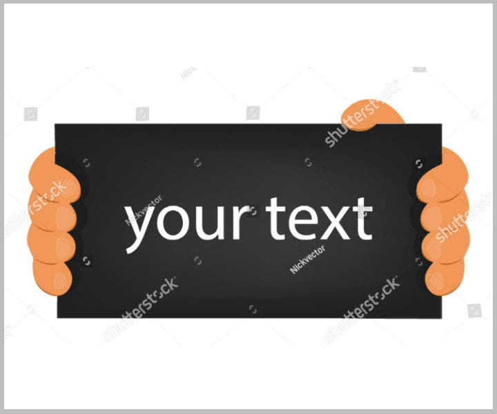 blank-name-placard-banner-vector-design-template