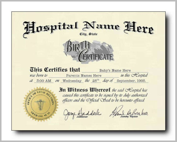 12 pet birth certificate designs templates pdf psd for Novelty birth certificate template