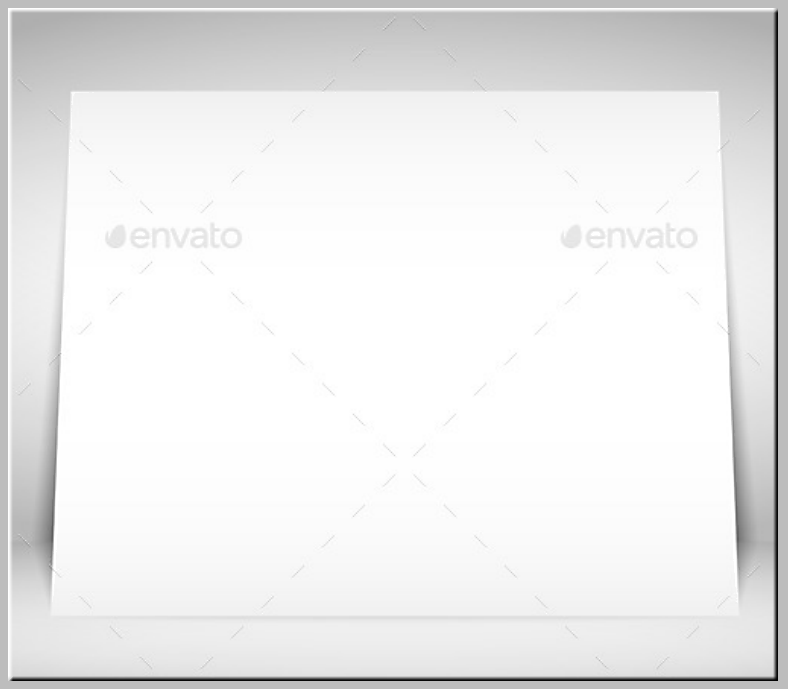 Blank White Placard Template