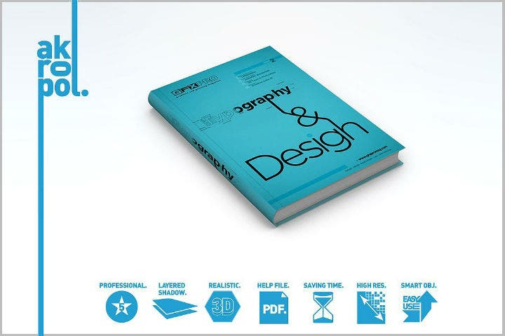 blue editable accounting book cover template
