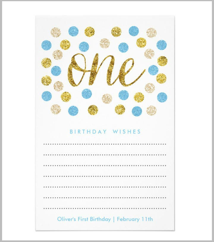 14  first wishes card designs  u0026 templates