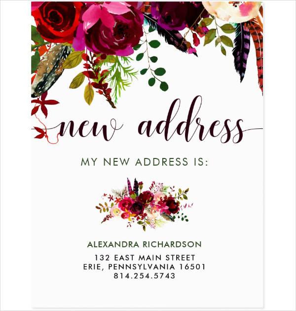 Boho New Address Postcard Template