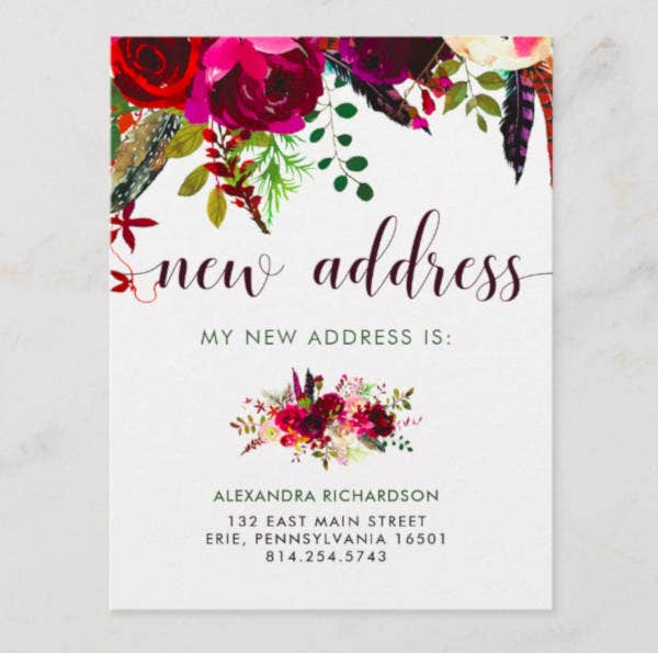 boho-new-address-postcard-template