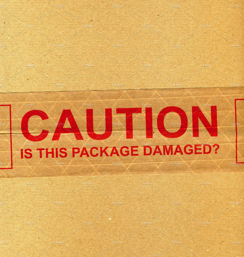 Box Texture Caution Signage Template