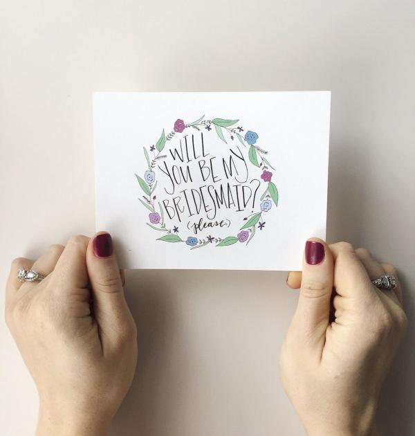 Bridesmaid Postcard Template