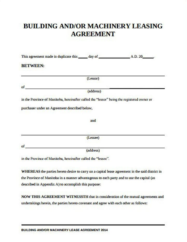 8  equipment lease request form templates