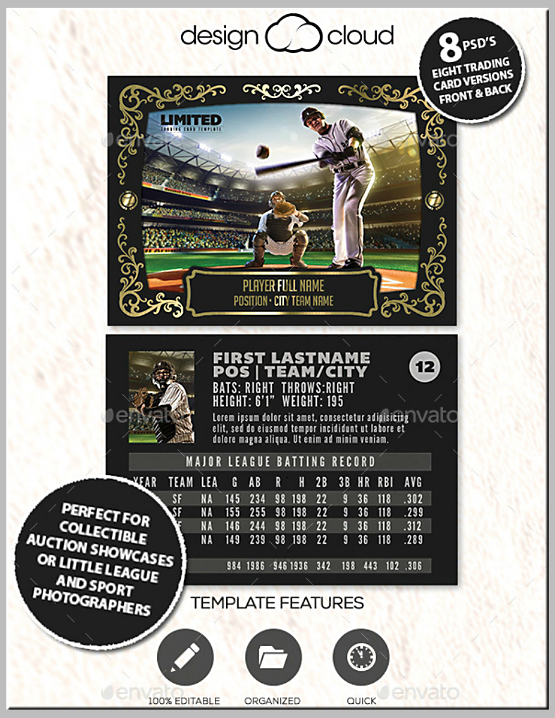 12 Baseball Trading Card Designs Templates Psd Ai Free