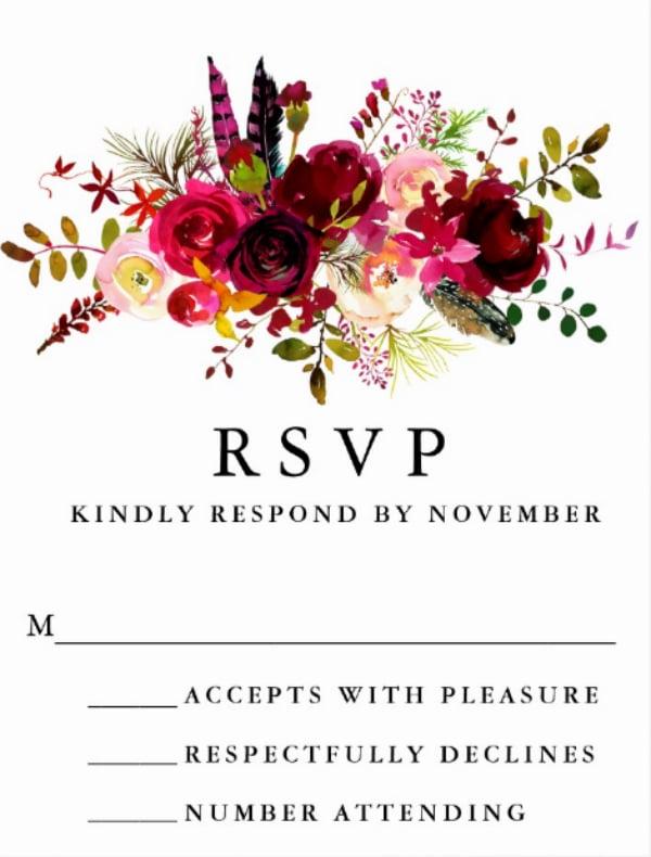 burgundy-floral-watercolor-rsvp-postcard