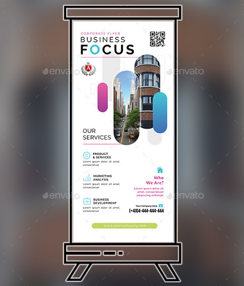 Business Focused Rollup Banner Template