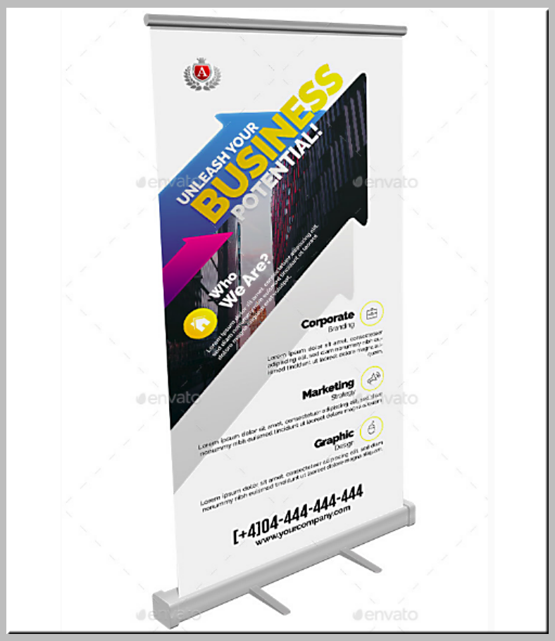 Business Potential Rollup Banner Template
