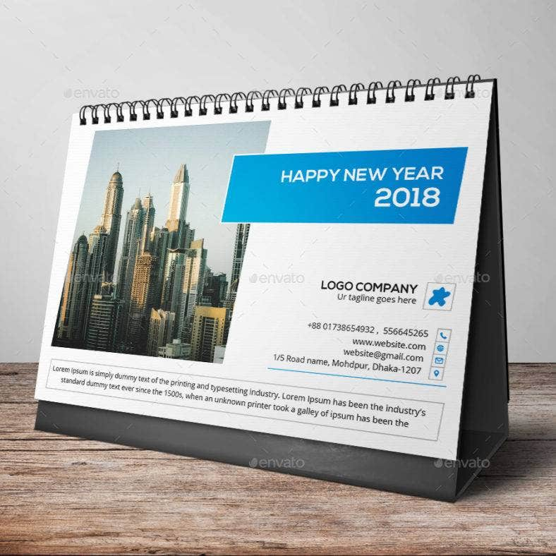 business-table-calendar-template