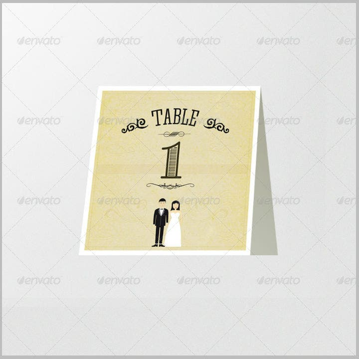 14 wedding table number designs templates psd ai free