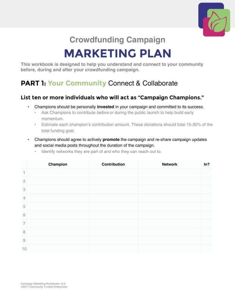 Campaign Marketing Planner