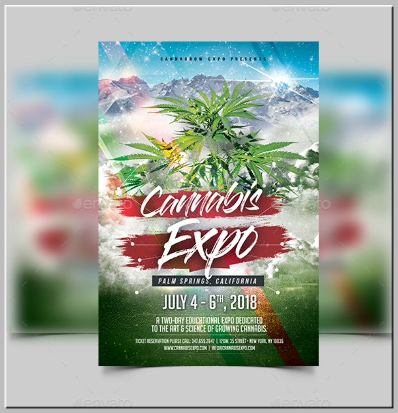 Cannabis Expo Event Flyer Template
