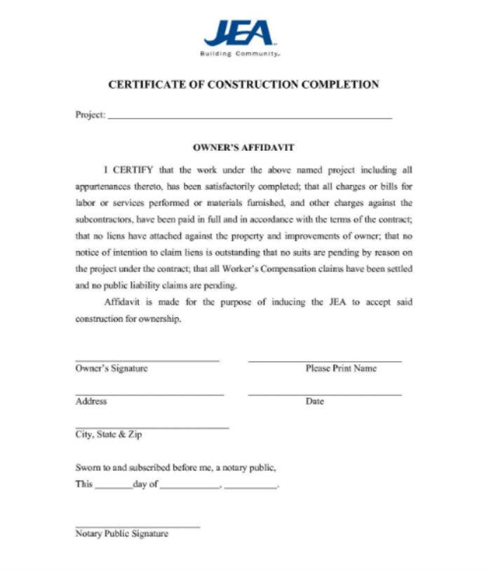 5+ Project Completion Certificate Templates - PDF, DOC | Free ...