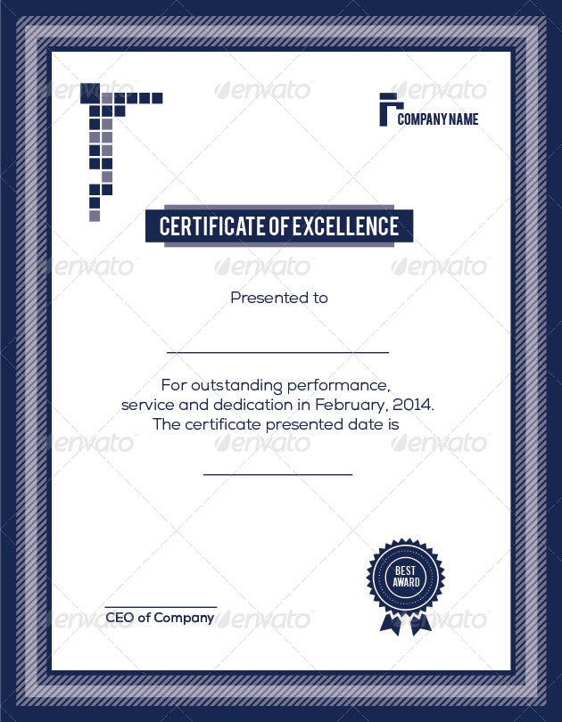 9+ Training Excellence Award Certificate Designs & Templates - PSD ...