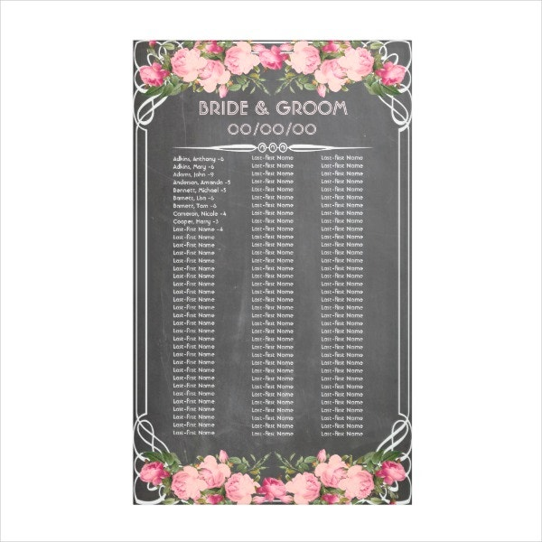 Chalkboard Banner Seating Chart