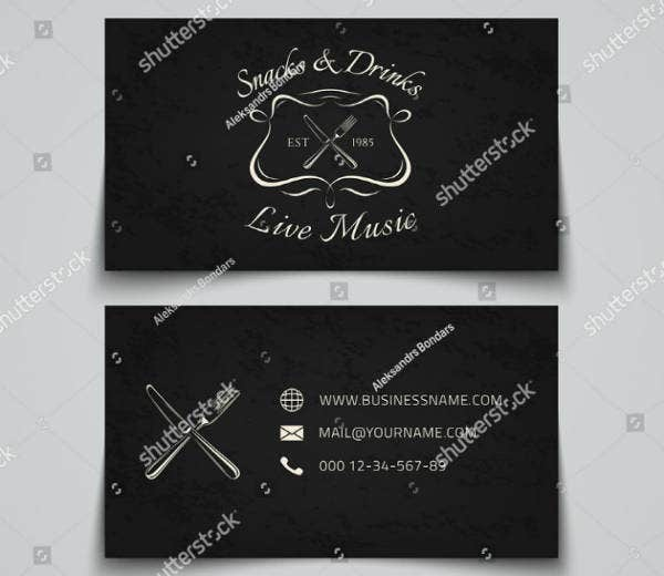chalkboard fast food business card template