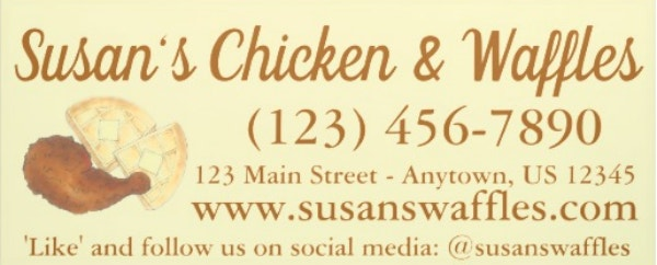 chicken and waffles soul food catering business banner