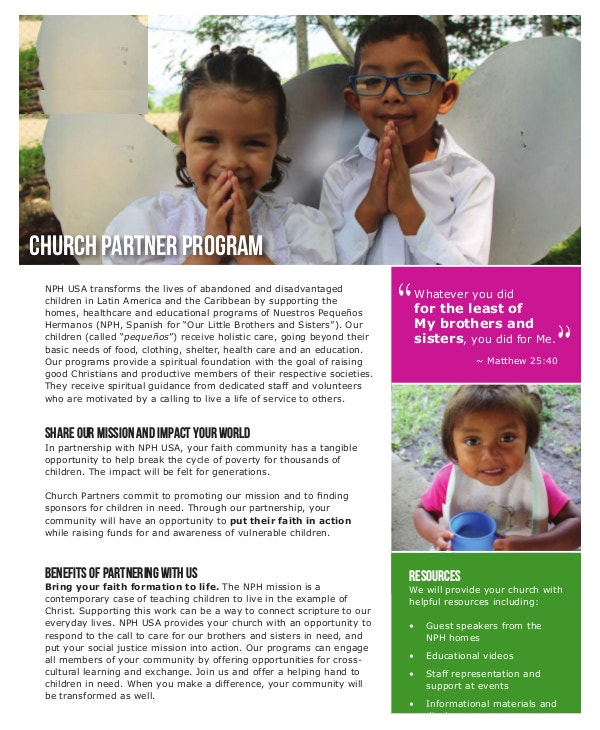 church partner program template