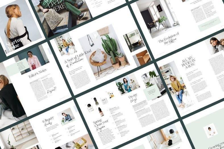 clean magazine template 788x524