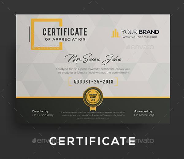 clean multipurpose certificate