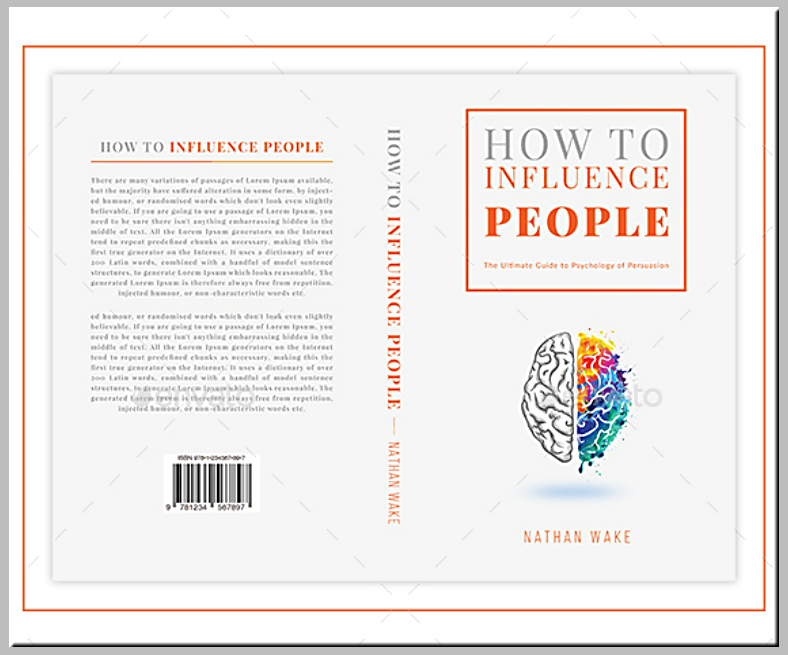 colorful brain illustration book cover template 788x655
