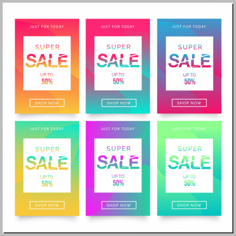 colorful super sale flyer template 788x788