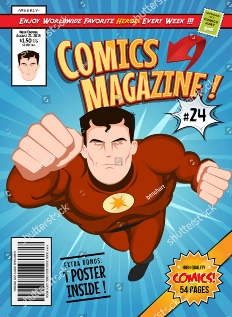 comics illustration book cover template 788x1075