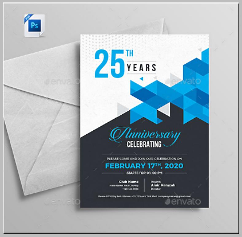 company anniversary invitation format template 788x771