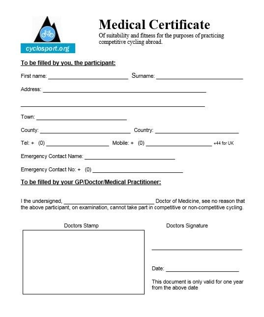 9 medical certificate templates for sick leave pdf doc for Sick certificate template