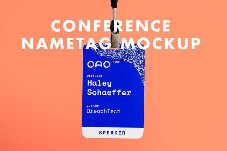conference name tag mockup 788x524