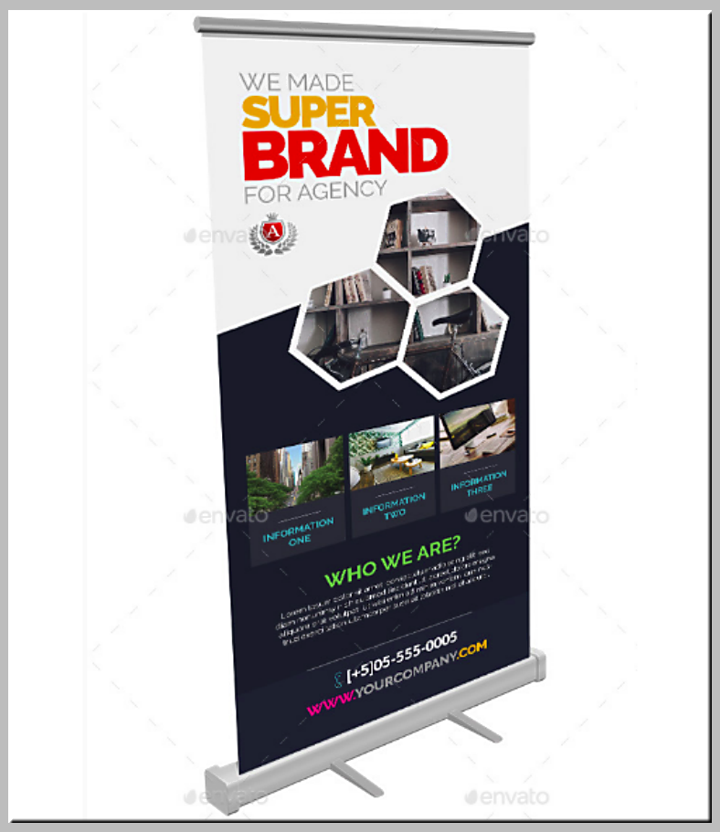 Corporate Brand Rollup Banner Template