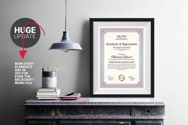 corporate modern certificate word template e1526260315396