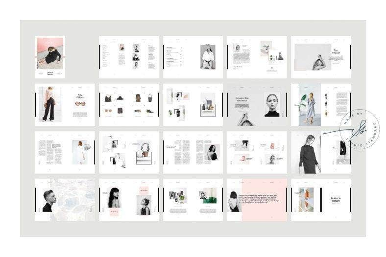 Creative Fashion Magazine Template