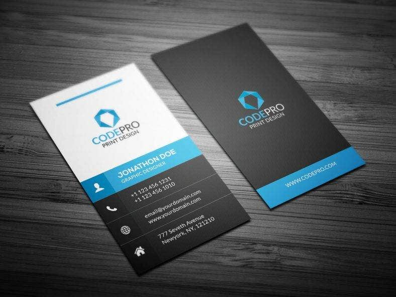 creative vertical business card template - Vertical Business Cards
