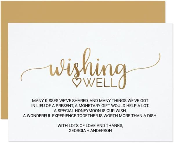 creative wedding wish card template